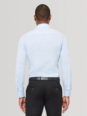 Sky Blue Slim Fit Linen Shirt