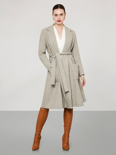 Wrap Coat Grey-Pink