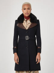 Navy London Coat