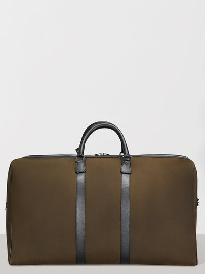 Green Waxed Holdall Bag
