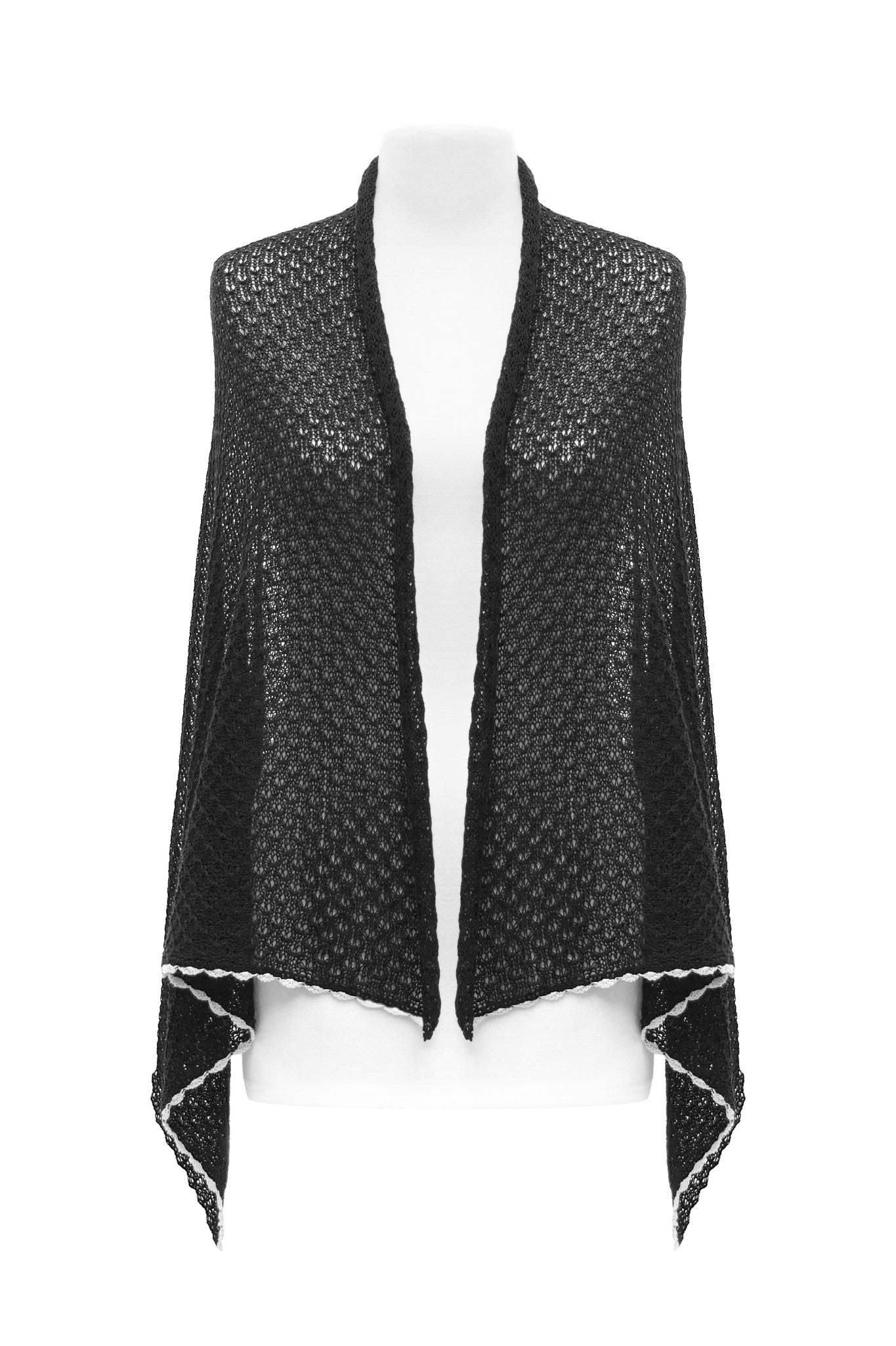 Female Black Lace Scarf