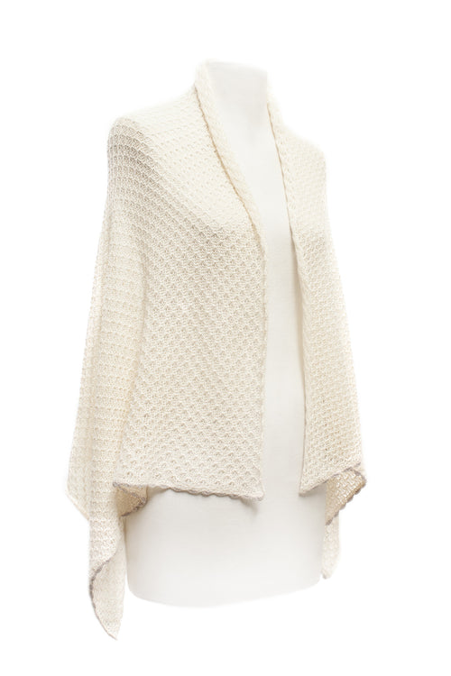 Cream Lace Scarf