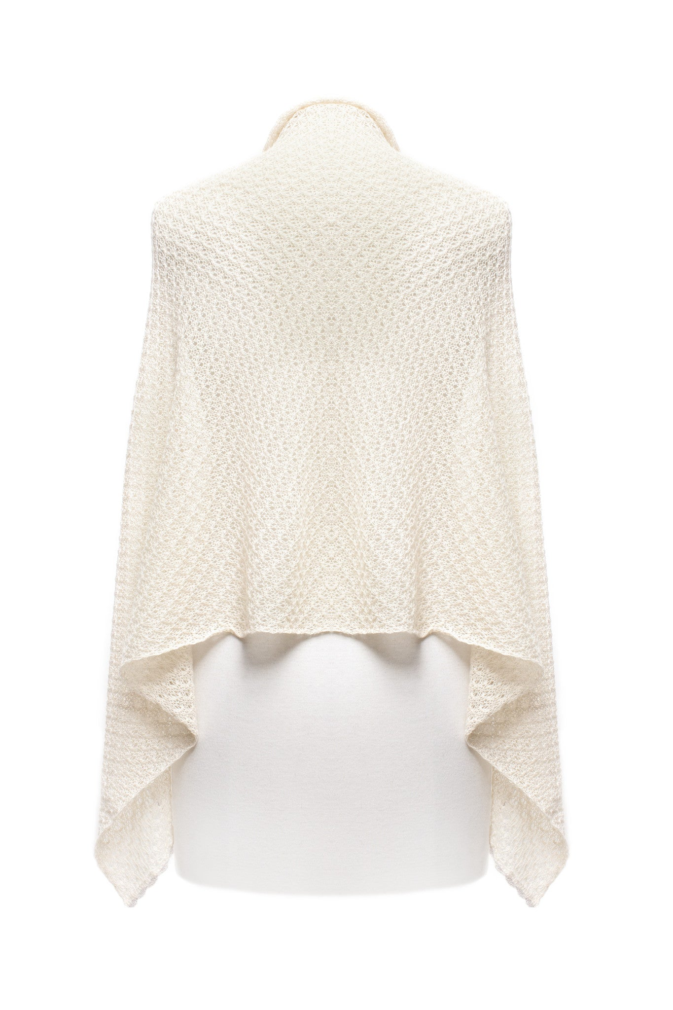 Female Cream Lace Scarf
