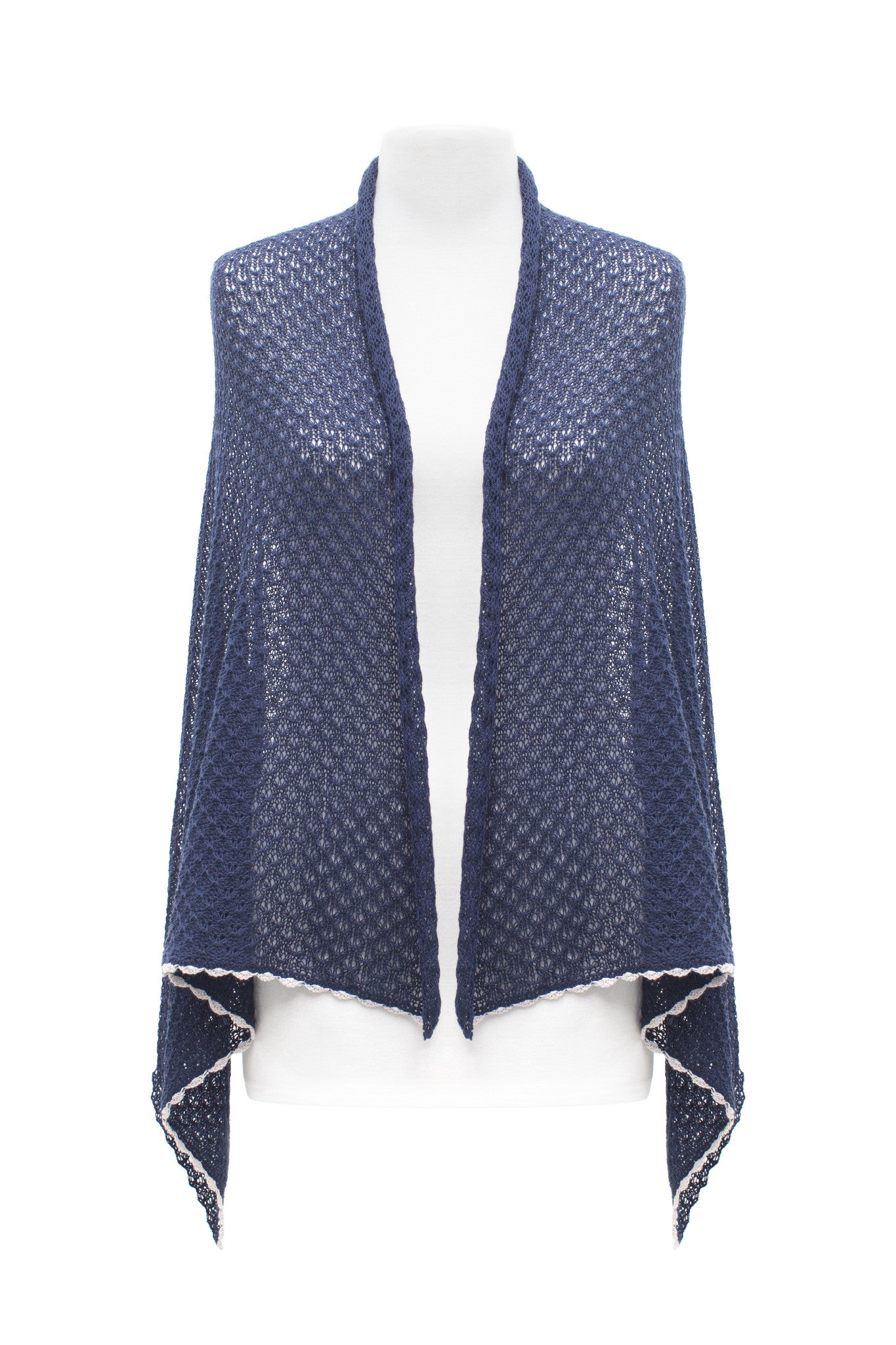Female Navy Lace Scarf