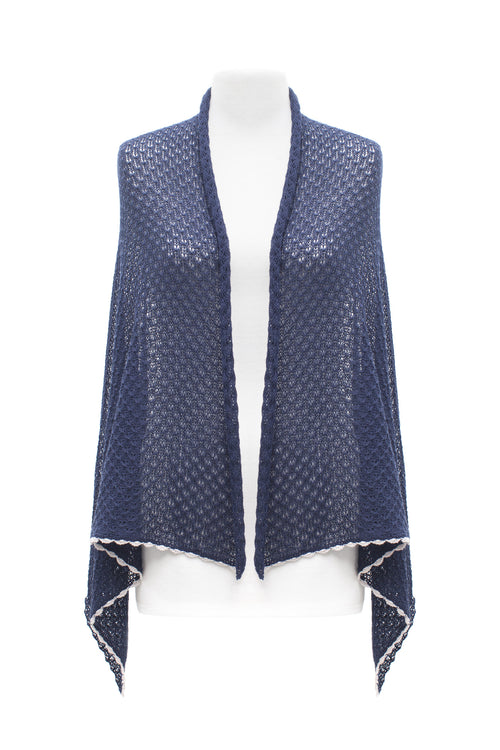 Navy Lace Scarf