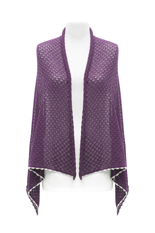 Purple Lace Scarf