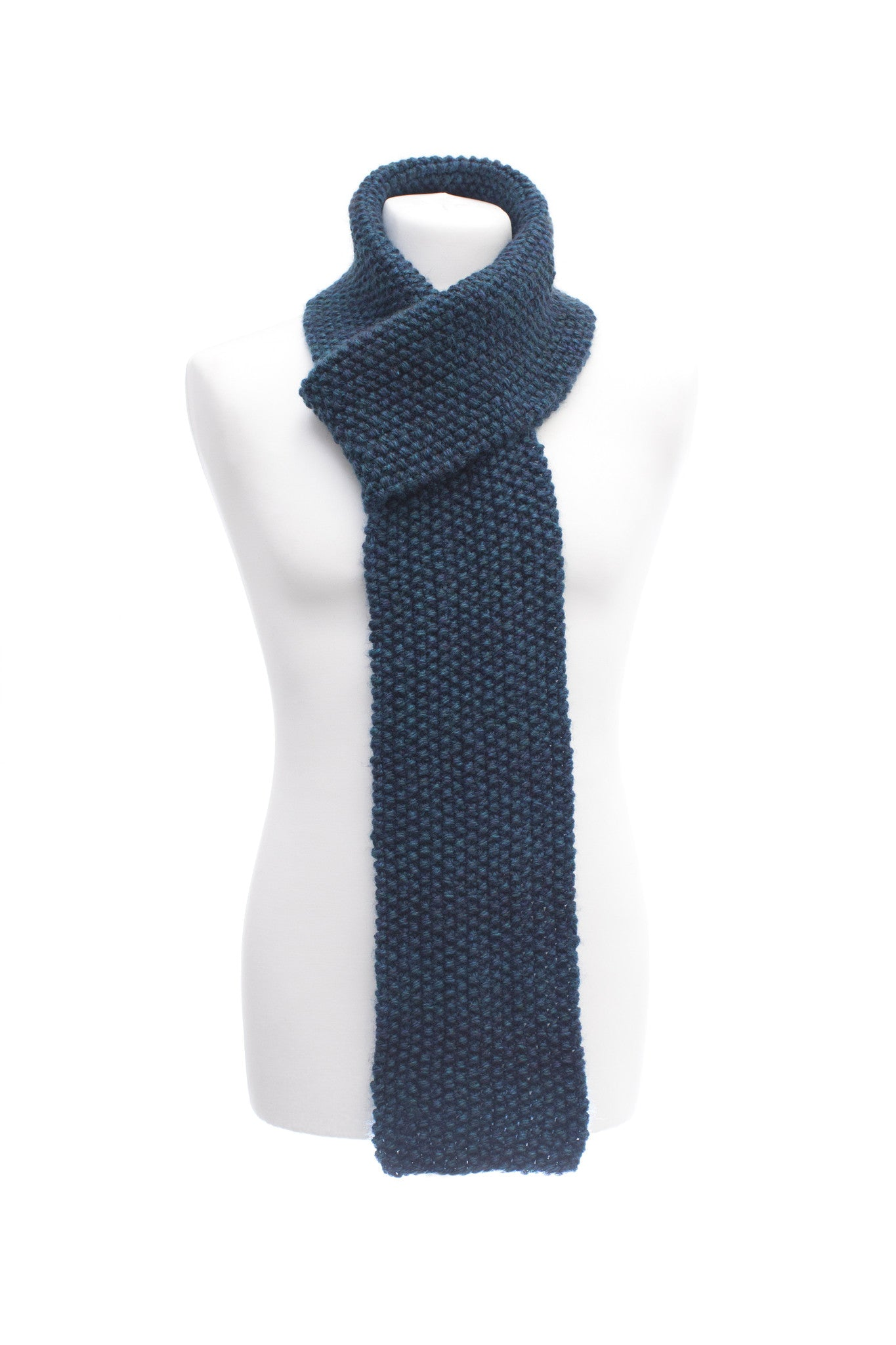 Male Turquoise Seed Stitch Scarf