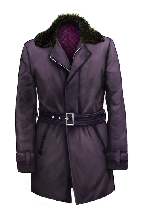 Purple Waxed Jacket