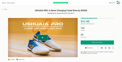 SENDA launches a Game-Changing Futsal Shoe - now available exclusively on Kickstarter.com
