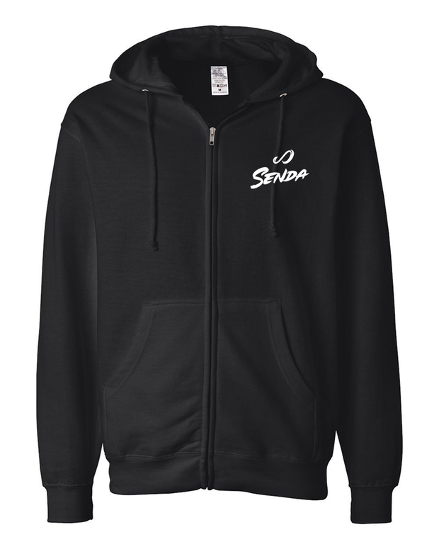 Senda Black Futsal Zip Up Hoodie