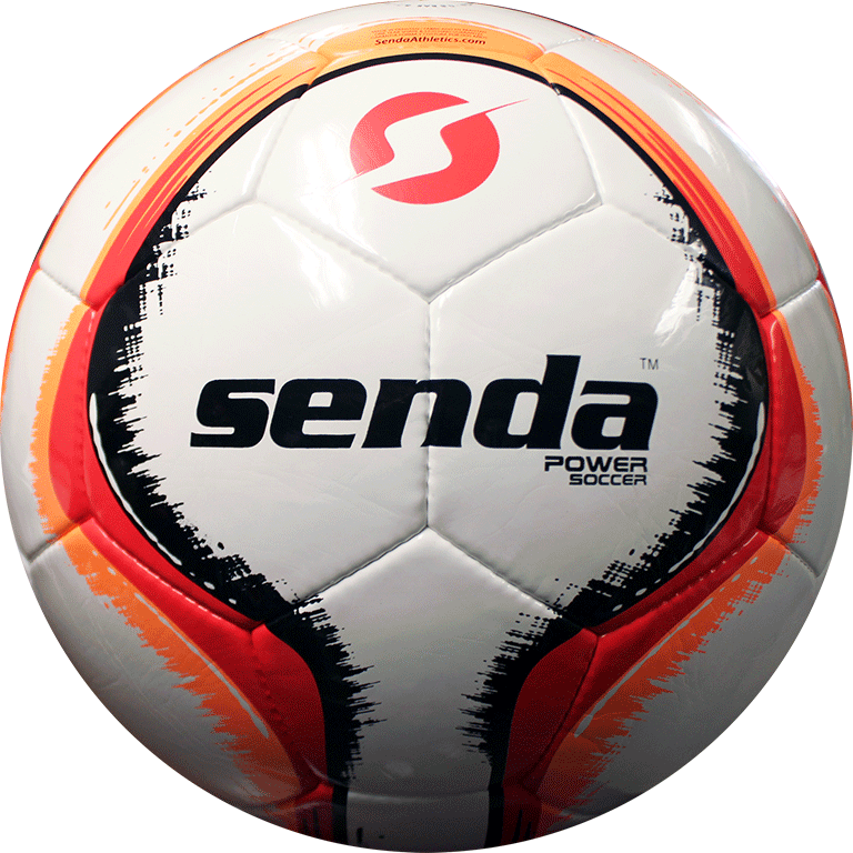 Back side of Senda power soccer ball