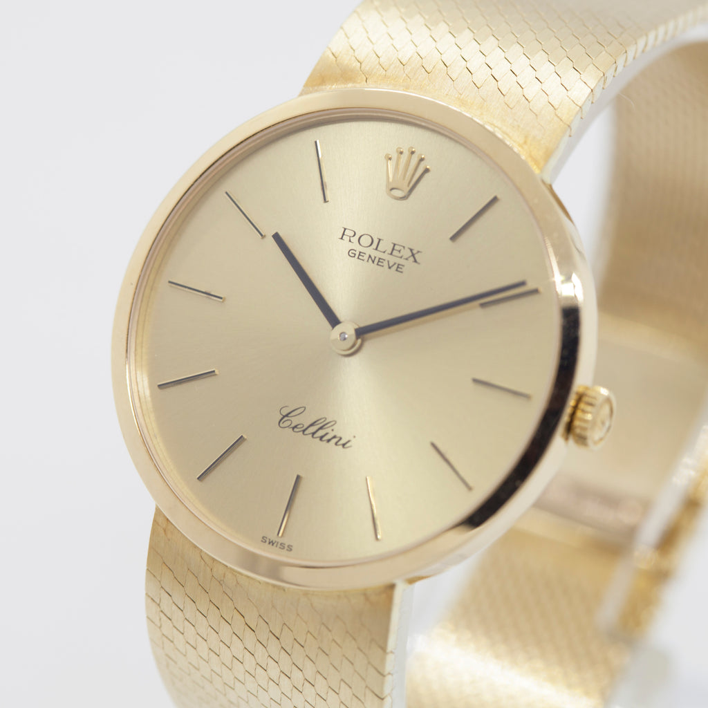 Rolex Cellini 18k Solid Gold Winding Watch Timescube