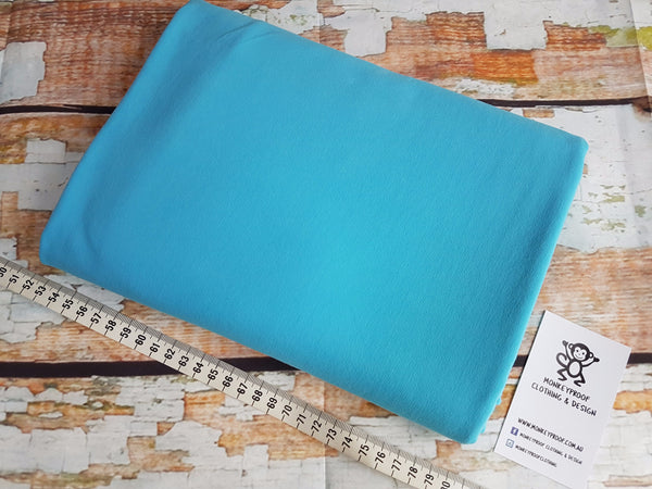 Sky Blue ~ Plain Solid Cotton Lycra Fabric