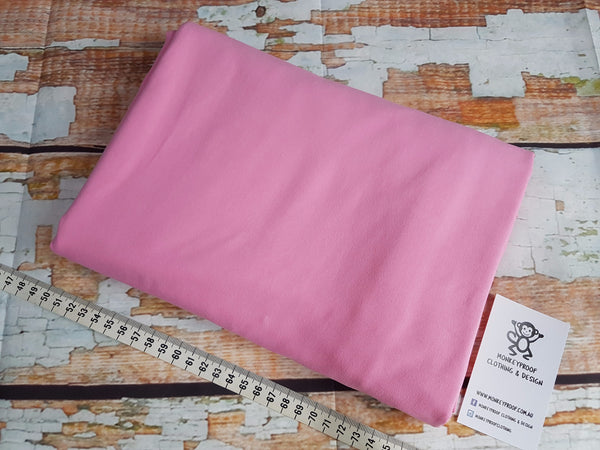Pink ~ Plain Solid Cotton Lycra Fabric