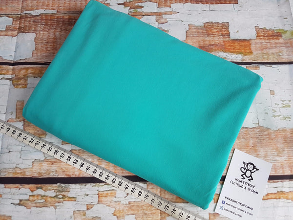 Mint ~ Plain Solid Cotton Lycra Fabric