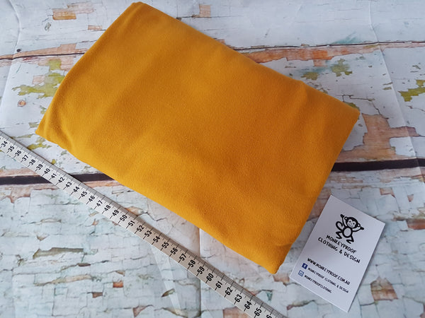 Mustard Yellow ~ Plain Solid Cotton Lycra Fabric