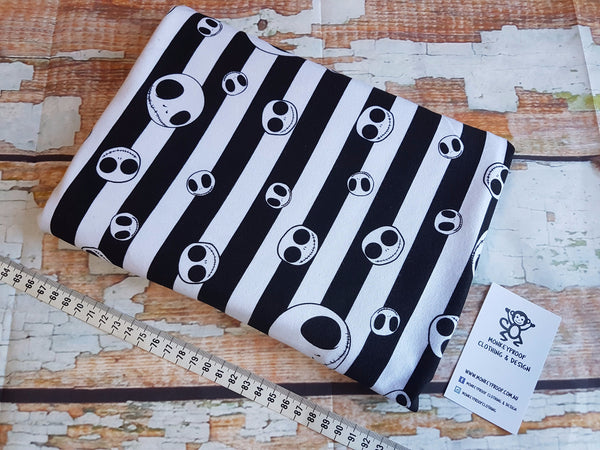 Jack Skellington ~ Printed Cotton Lycra Fabric