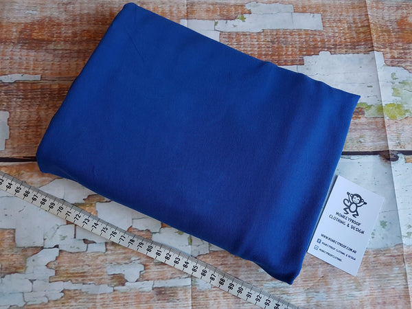 Medium Blue ~ Plain Solid Cotton Lycra Fabric