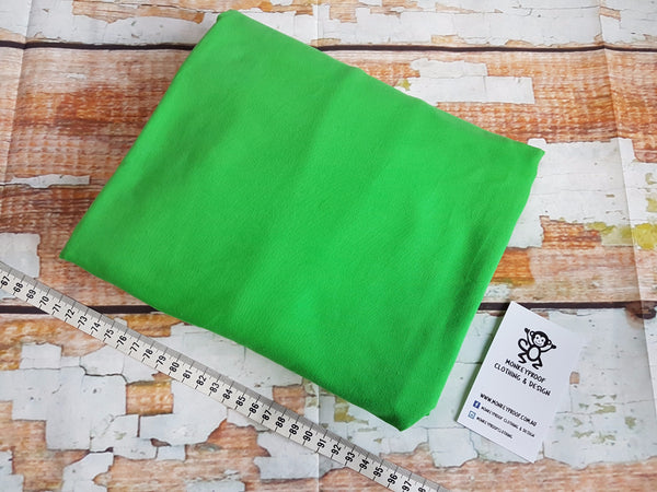 Lime Green ~ Plain Solid Cotton Lycra Fabric