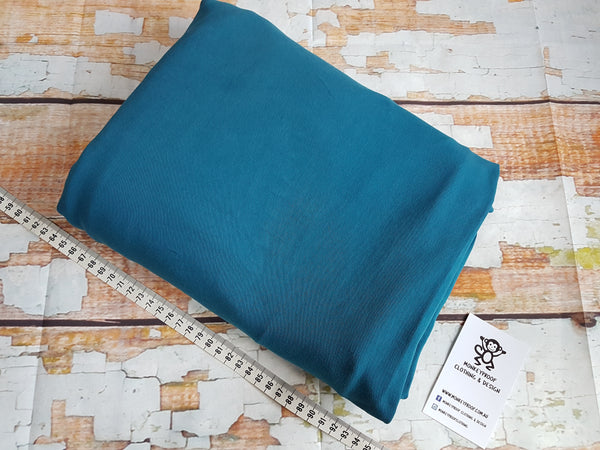 Teal ~ Plain Solid Cotton Lycra Fabric