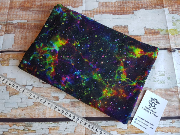 Nebula Starburst ~ Printed Cotton Lycra Fabric