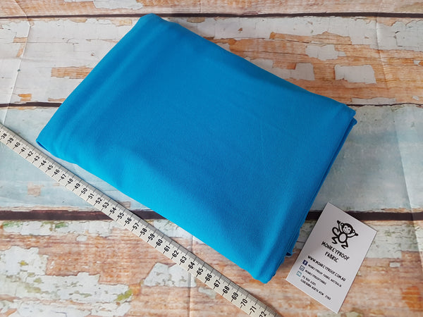 Azure Blue ~ Plain Solid Cotton Lycra Fabric