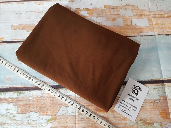 Brown ~ Plain Solid Cotton Lycra Fabric