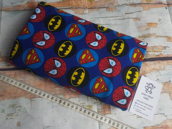 Superheroes ~ Printed Cotton Lycra Fabric