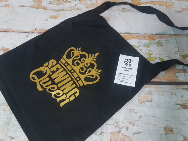 Tote Bag ~ Sewing Queen (Gold)