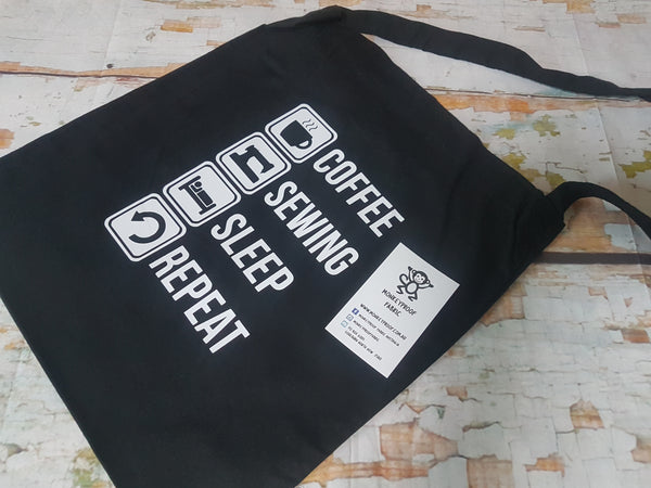 Tote Bag ~ Coffee Sewing Sleep Repeat