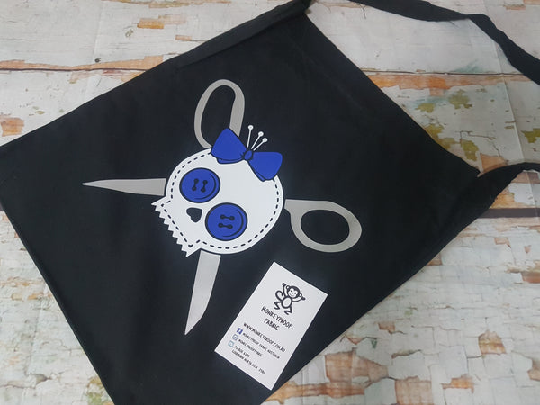 Tote Bag ~ Sewing Skull (Blue)