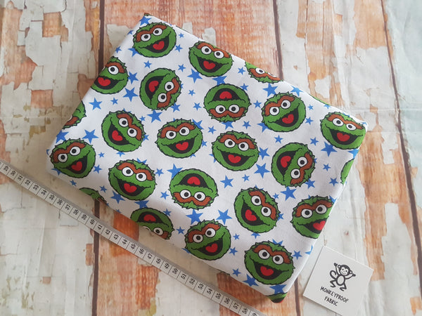 Oscar the Grouch ~ Printed Cotton Lycra Fabric