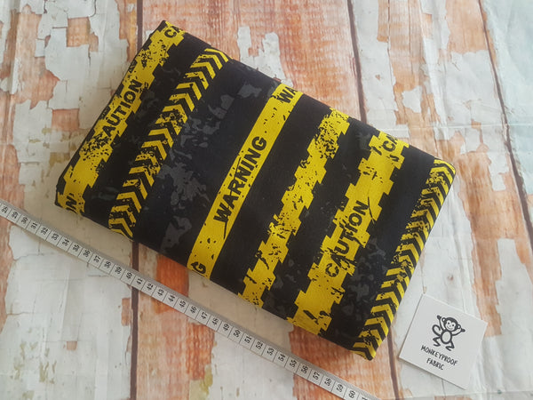 Warning Tape ~ Printed Cotton Lycra Fabric