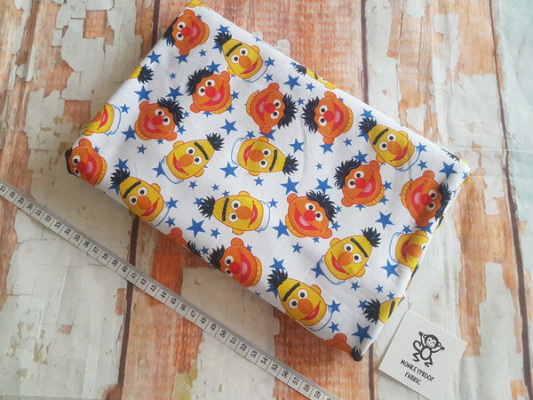Bert and Ernie ~ Printed Cotton Lycra Fabric