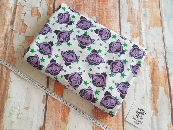 Count von Count ~ Printed Cotton Lycra Fabric
