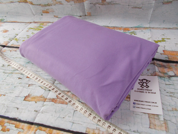 Light Purple ~ Plain Solid Cotton Lycra Fabric