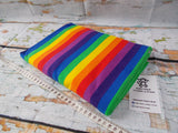 Rainbow 5/8 Inch ~ Striped Cotton Lycra Fabric