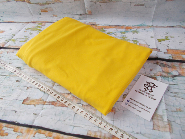 Yellow ~ Plain Solid Cotton Lycra Fabric