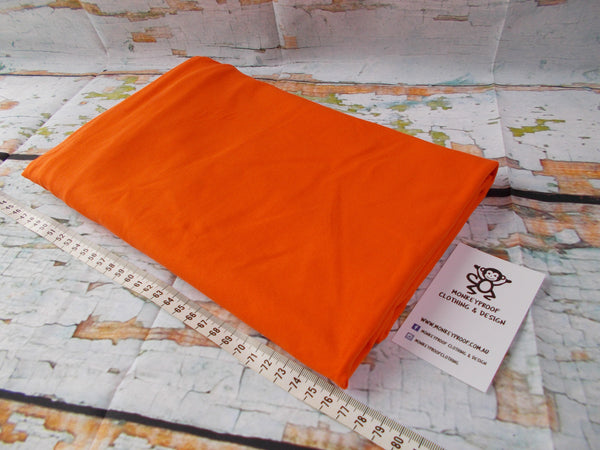 Orange ~ Plain Solid Cotton Lycra Fabric
