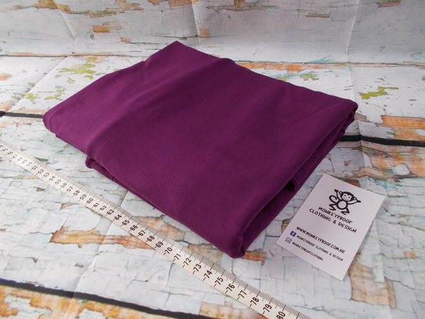 Purple ~ Plain Solid Cotton Lycra Fabric