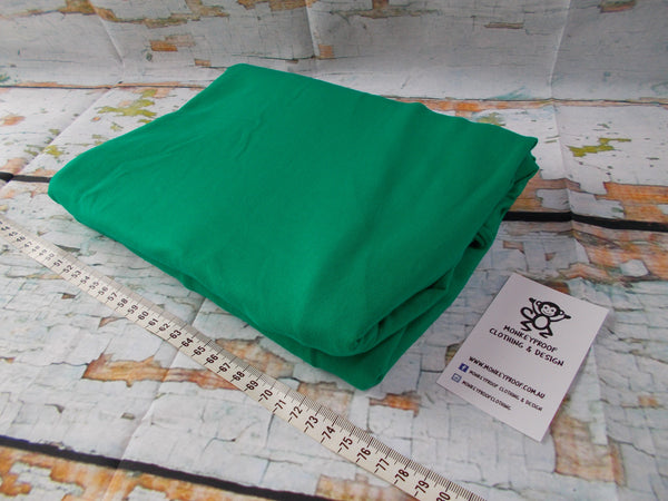 Emerald Green ~ Plain Solid Cotton Lycra Fabric