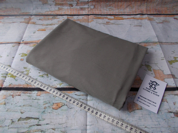 Light Grey ~ Plain Solid Cotton Lycra Fabric