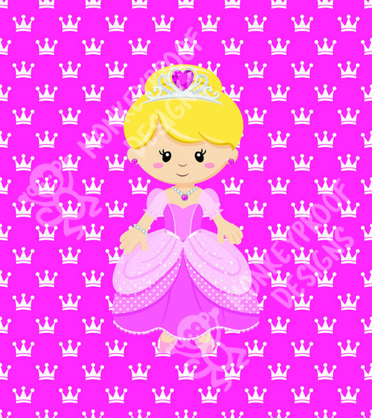"Little Pink Princess ~ 15"" x 15"" Patterned Cotton Lycra Fabric Panel"