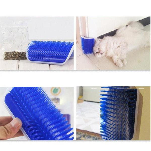 Cat Self-Grooming Brush + FREE Catnip