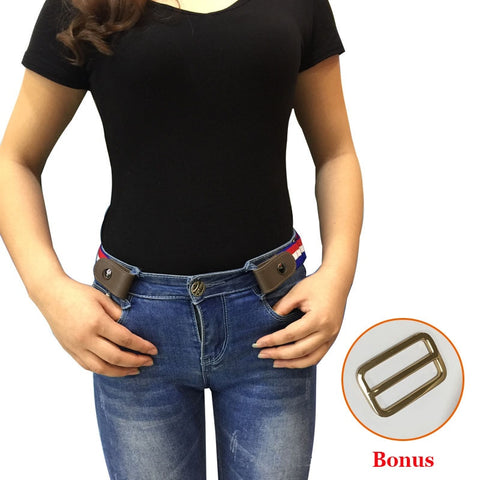 Buckle-Free Elastic Belt For Jean Pants Dresses No Buckle Stretch Elastic Waist Belt