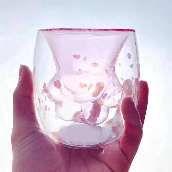 1Pcs Cat Paws Cup Heat-resistant Creative Milk Tea Whiskey Glass Cat Claw Cup