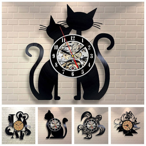 Home Decor - 3D Animal Wall Clock Vinyl