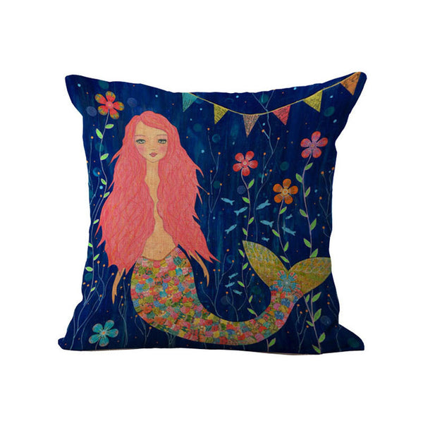 Home Decor - Beautiful Mermaid Pillow Cover
