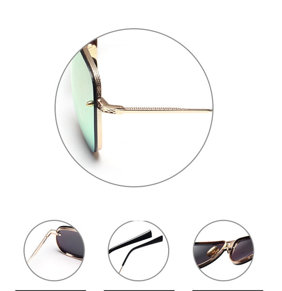 Men or women Brand Designer Sunglasses Original FeMale Lady UV400 Mirror Kim Kardashian Sun Glasses Full Metal 2016 New Fashion
