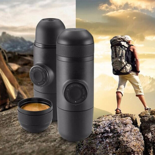 Minipresso Espresso Mini Coffee Machine Outdoor Travel DIY Coffee Filter Handheld Pressure Mini Manual Portable Coffee Maker